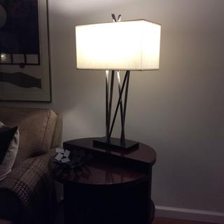Perfect! The lamp is stunning.I a lamp,and the entire room looks fresher and more up to date