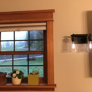 Great quality item. New paint and light fixtures made the dining area beautiful and updated easily!