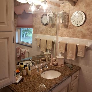 A bathroom upgrade!