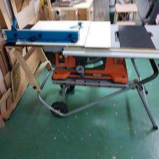 Cross Cut Sled & Drop Off Platform installed on modified table Saw