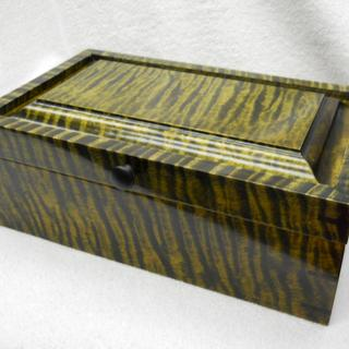Keepsake Box  amber over black on curly maple.
