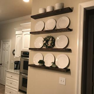 Love my new shelves!  So easy!