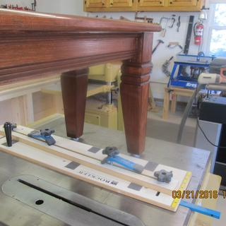 My new Rockler Taper jig helped me make these legs on this bench.  Legs are 3 x 3.
