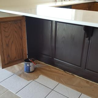 Just Started Today Staining My Kitchen Cabinets For A Much Needed Update Love Java Gel