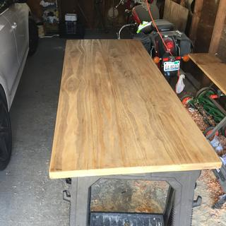 6ft table glued with 3/8 dowels