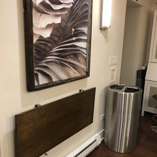 Shelf when down.