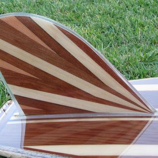 glsass on fin for hollow wood surfboard