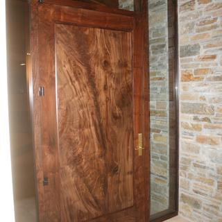 Claro walnut door with Wunderfil pore filling