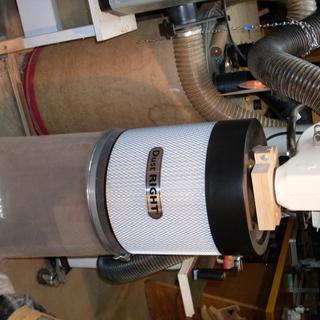 Dust Right Canister on JET dust collector.