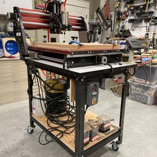Complete movable CNC unit on Rockler CNC Table
