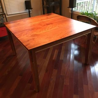 Cherry table with Curly Maple accent