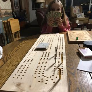 XL  cribbage board template and extra large cribbage board pegs