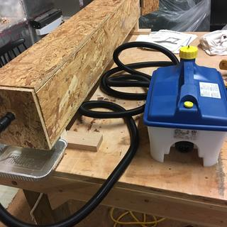 Rockler Steam Unit with home made steam box.