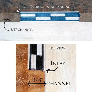 oversized inlay banding