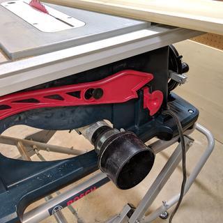 "Bosch 4100 + 2.5"" swivel + Dust Right 2.5"" tool port"