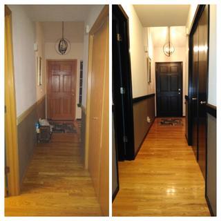 Transform honey oak entryway