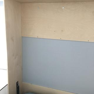 Snug fit on sides another inch on each side would help if you have the wall space