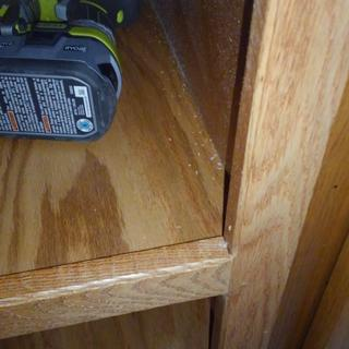 I like the cut. See what you think of this treatment I used on my wife's new open pantry cabinet.