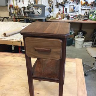 Drawer face is of 1/2 inch walnut