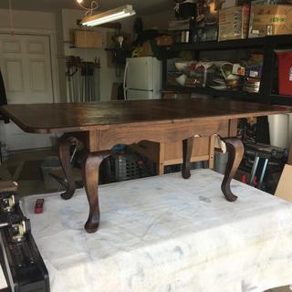 Solid Oregon Walnut Coffee Table.