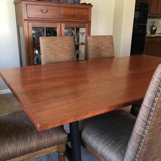 Completed dining room table I used General Finishes ARM-R-SEAL Satin varnish.