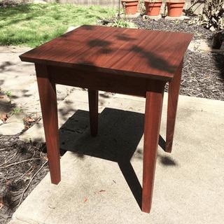 Walnut end table.
