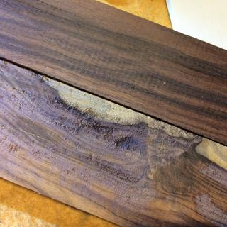 Photo of Bolivian rosewood sticks side by side.