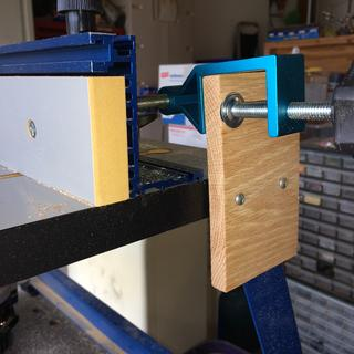 With a little work I was able to use this on my Kreg router table. I love it, it works great.