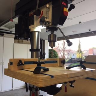 Drill press table using Rockler Hold Down Clamps