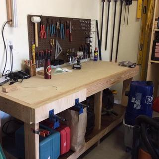 """24"""" woodworker's vise made with Rockler pipe clamps"""