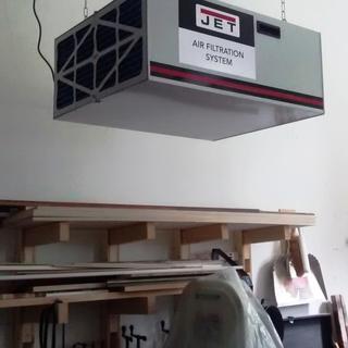 suspended 8' above shop floor