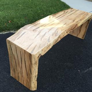Ambrosia Maple Waterfall Bench.  Arm-R-Seal gloss is amazing stuff!