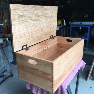 Box made prior to purchasing hinge templet