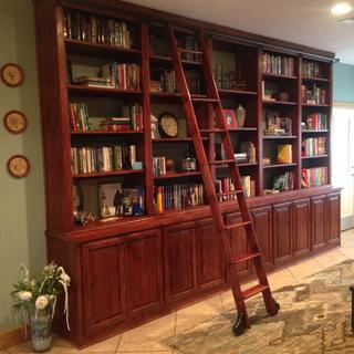 Custom built library using hardware from Rockler. Very pleased.