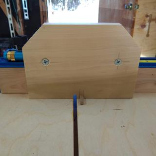 Front View - Box Joint Jig face plate can be replaced with other face plate