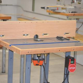 Router table at Patterson Marine