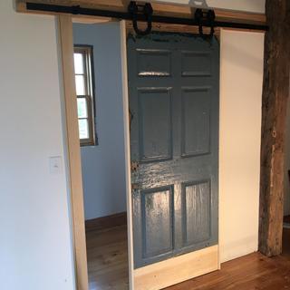 Old from door converted to interior door,