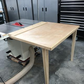 Outfeed table for my table saw, these worked great, heavy duty enough to handle the top.