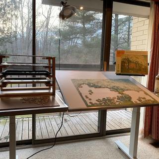 table with jigsaw