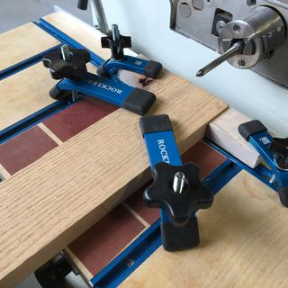 Clamping jig for horizontal mortise cutter
