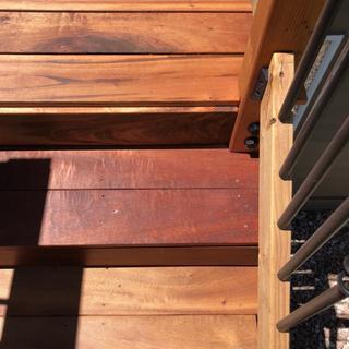 Deck stair with Kreg deck screws face screwed