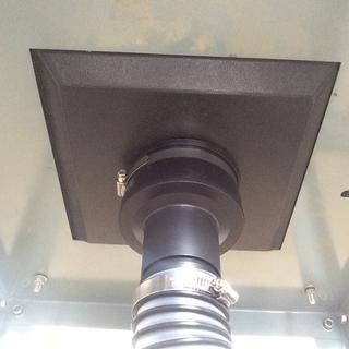 Table Saw Hood, P/N 88460, Vacuum Tool Port Adapter, P/N 52906 and Swiveling Hose Adapter, P/N 31660