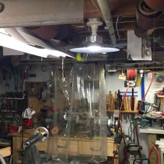 Led Shop Lights With Reflector Shrouds Rockler Woodworking And