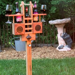 Music added to a perfect backyard caddy.