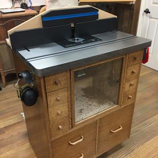 Added the ProMaxRT to Norm Abram's router table design.