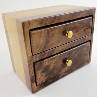 Walnut crotch and butternut bandsaw box