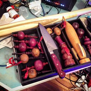 Baseball bat, ornaments, snowman, rocket ship