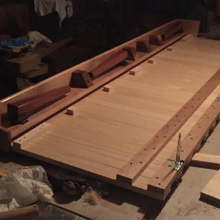 Underside of futon couch I made for my travel trailer