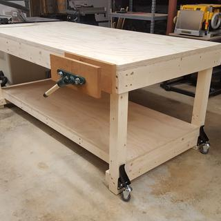 Took just 5 minutes to install. Easy to move this 200+lb outfeed table now.