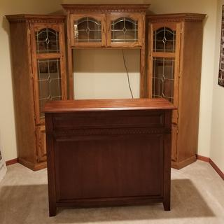 Old tv wall unit